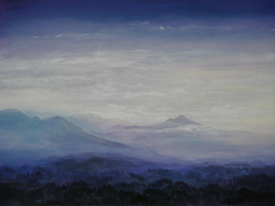 Landscape Painting - Mist Over The Mountains by Jeff Knott