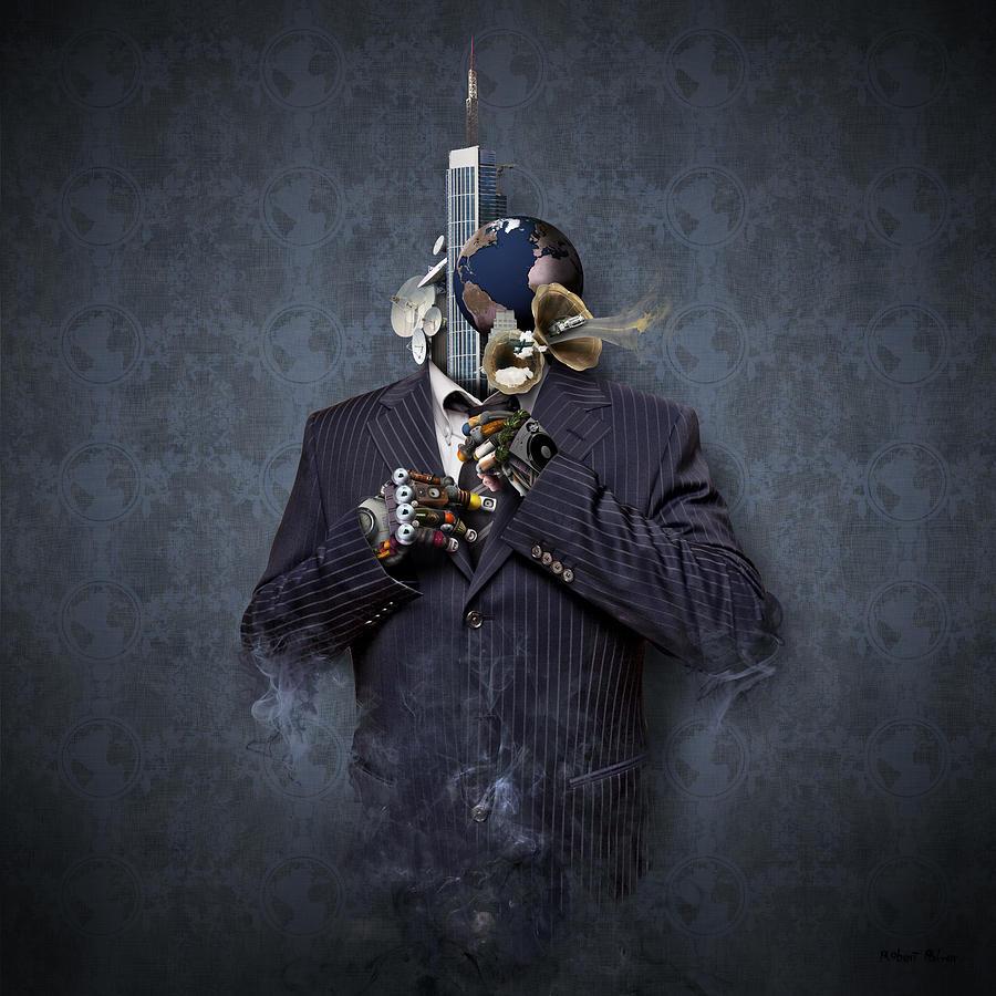 Robert Mixed Media - Mister Blue by Robert Palmer