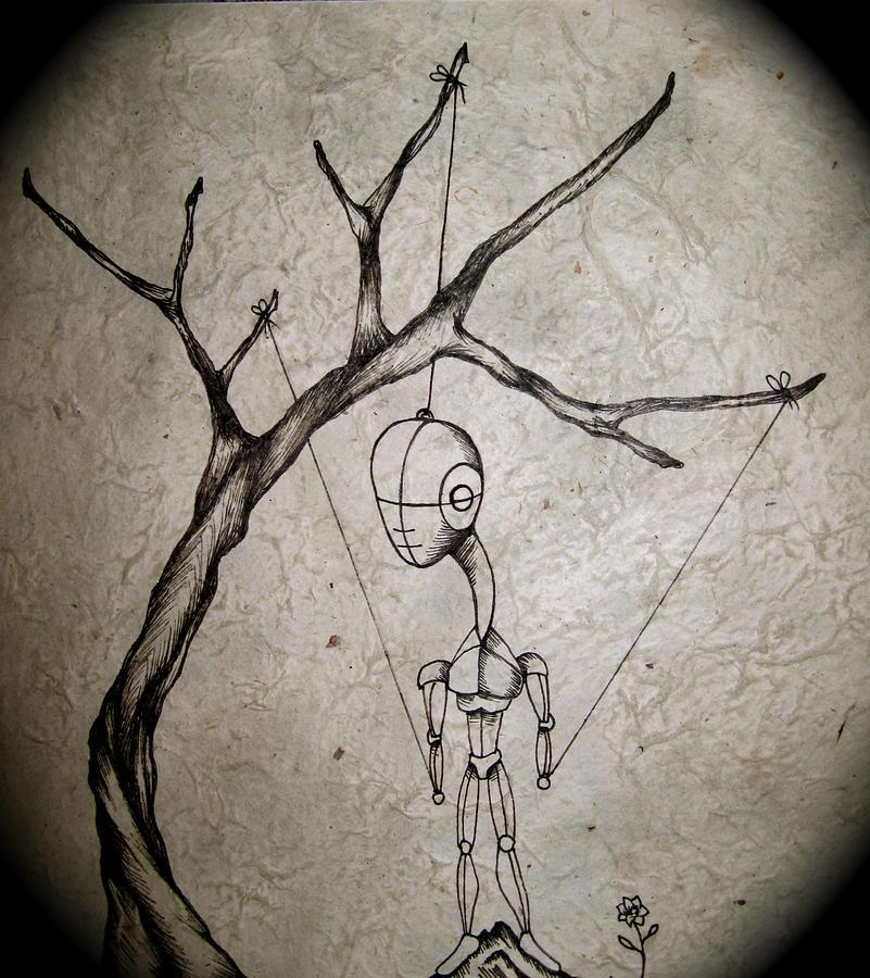 Ink Painting - Mister by Jeff DOttavio