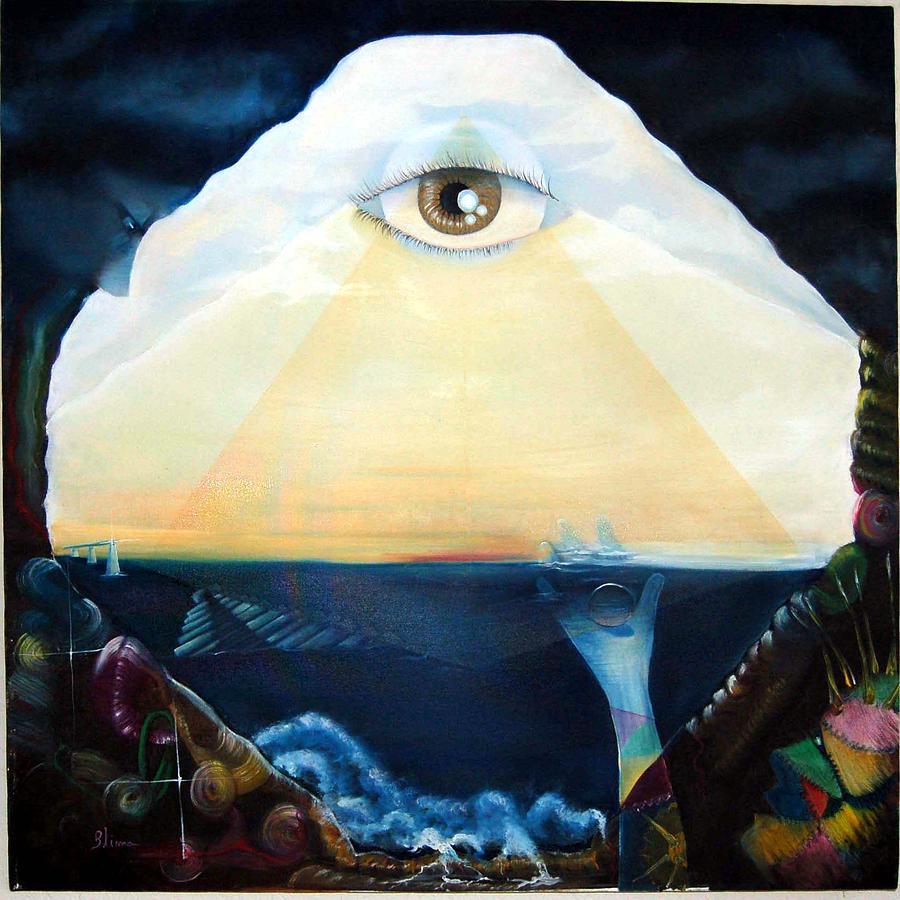 Surreal Painting - Misterio Em Alto Mar by Blima Efraim