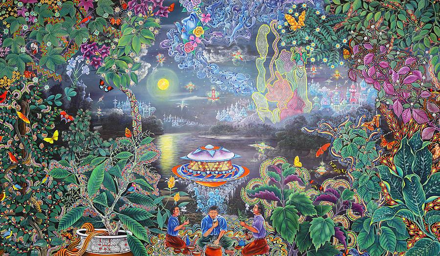 Pablo Amaringo Painting - Misterio Profundo by Pablo Amaringo