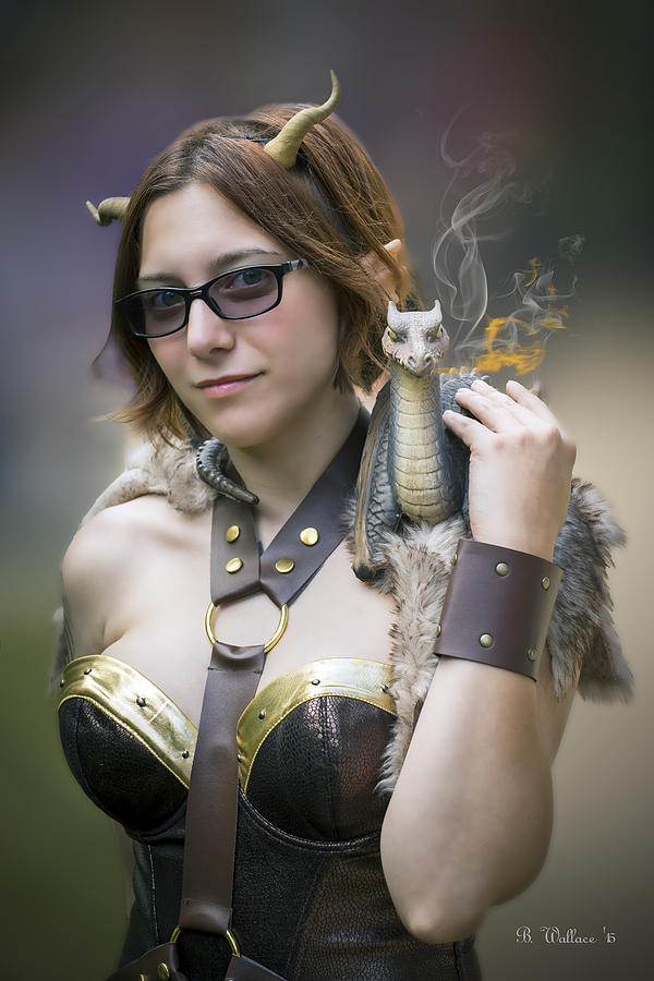 2d Photograph - Mistress Of Dragons by Brian Wallace