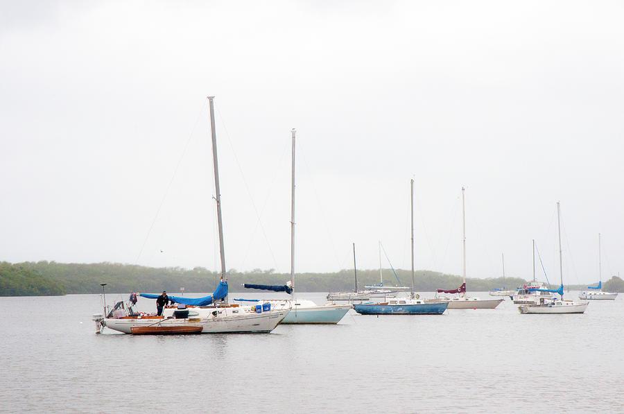 Sailboats Photograph - Misty Alafia Morning by Norman Johnson