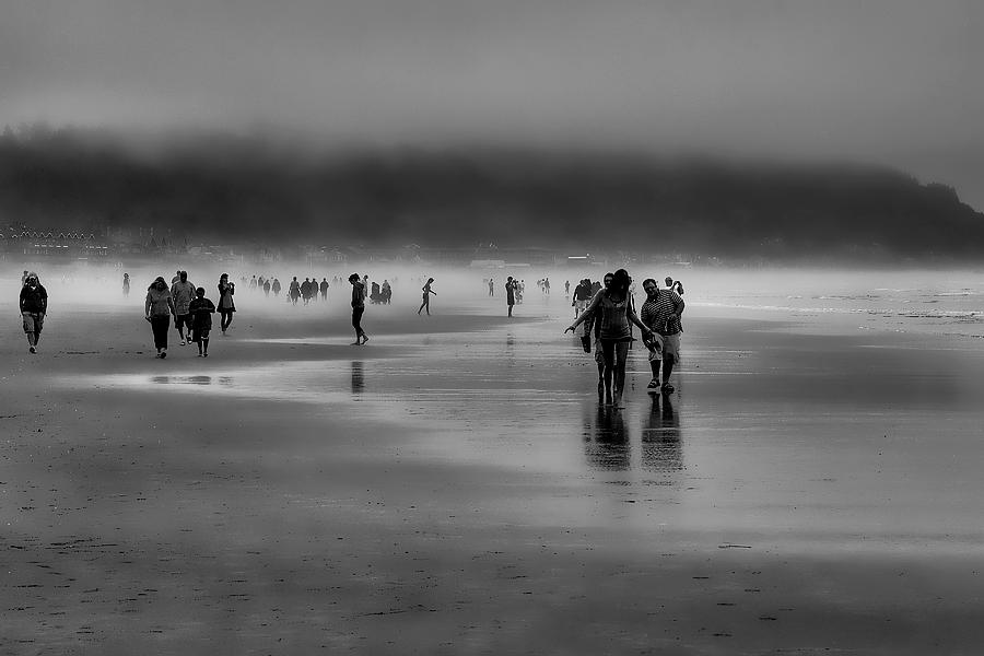 Mist Photograph - Misty Beach by David Patterson