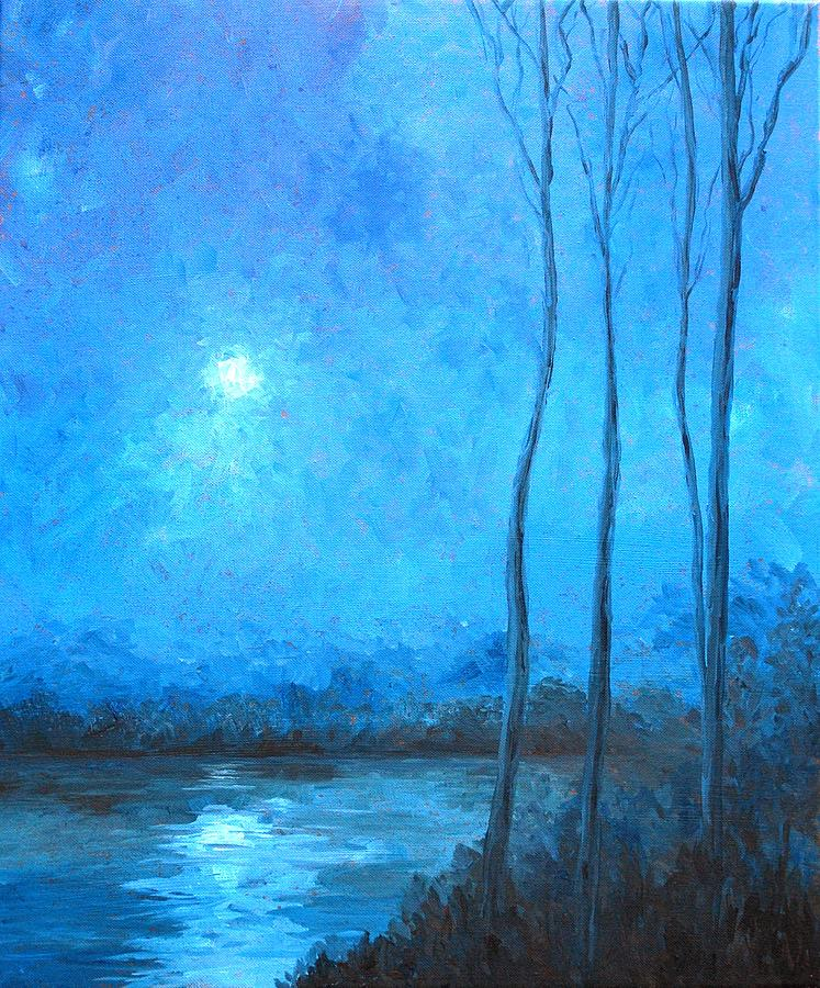 Misty Painting - Misty Blue by Beth Maddox