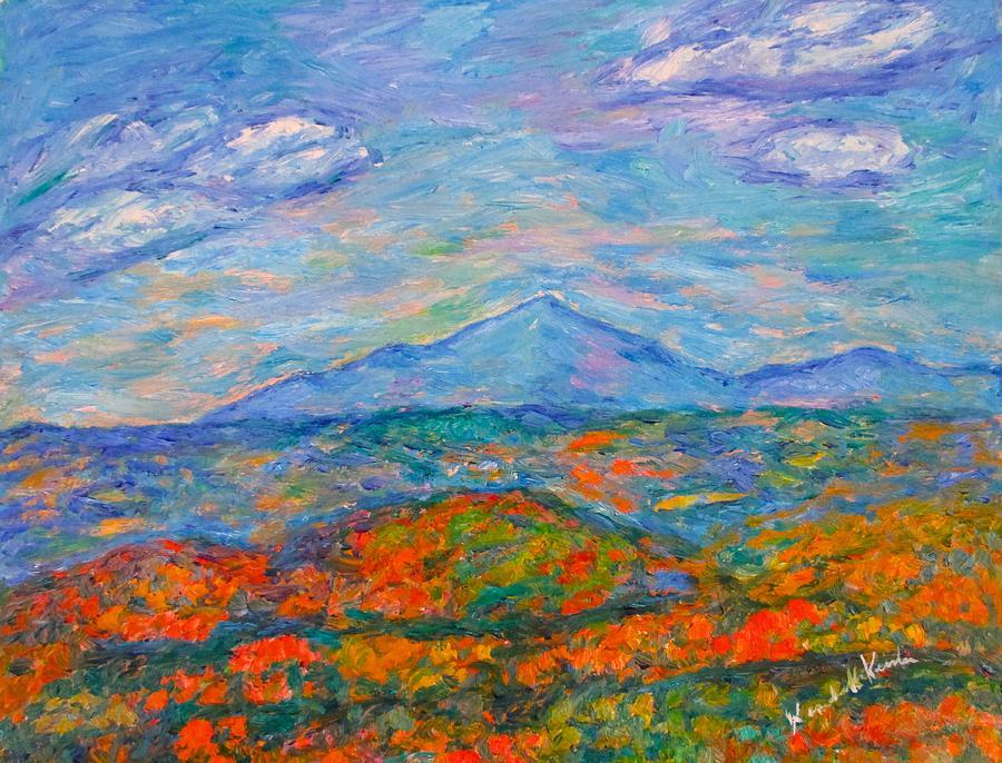 Blue Ridge Painting - Misty Blue Ridge Autumn by Kendall Kessler