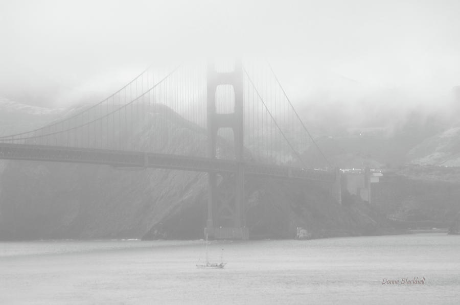 Golden Gate Bridge Photograph - Misty Bridge by Donna Blackhall