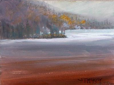 Misty Calm Painting by Shirley McKay