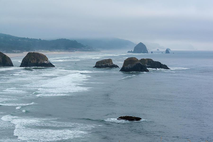 Misty Coastline by Robert McKay Jones