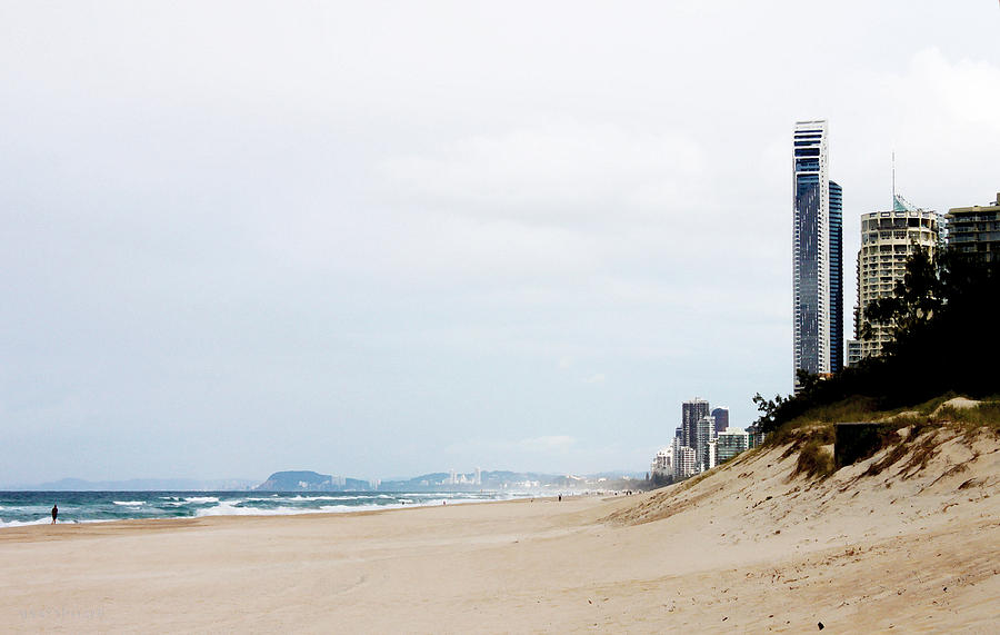 Gold Coast Photograph - Misty Gold Coast Beach by Susan Vineyard