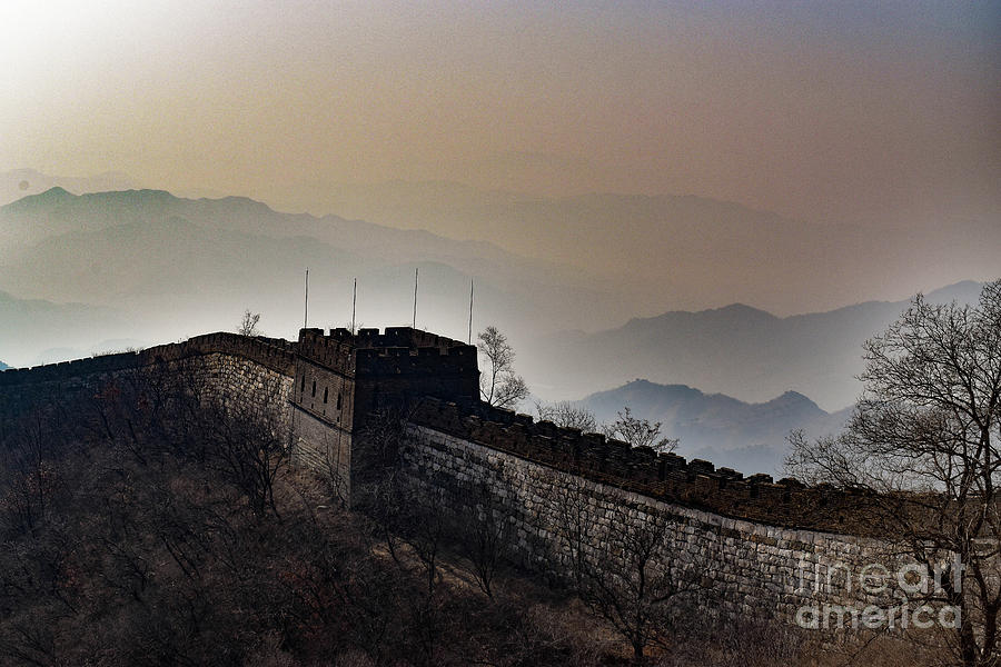 Great Wall Photograph - Misty Great Wall of China at Mu Tian Yu by Nicholas Braman