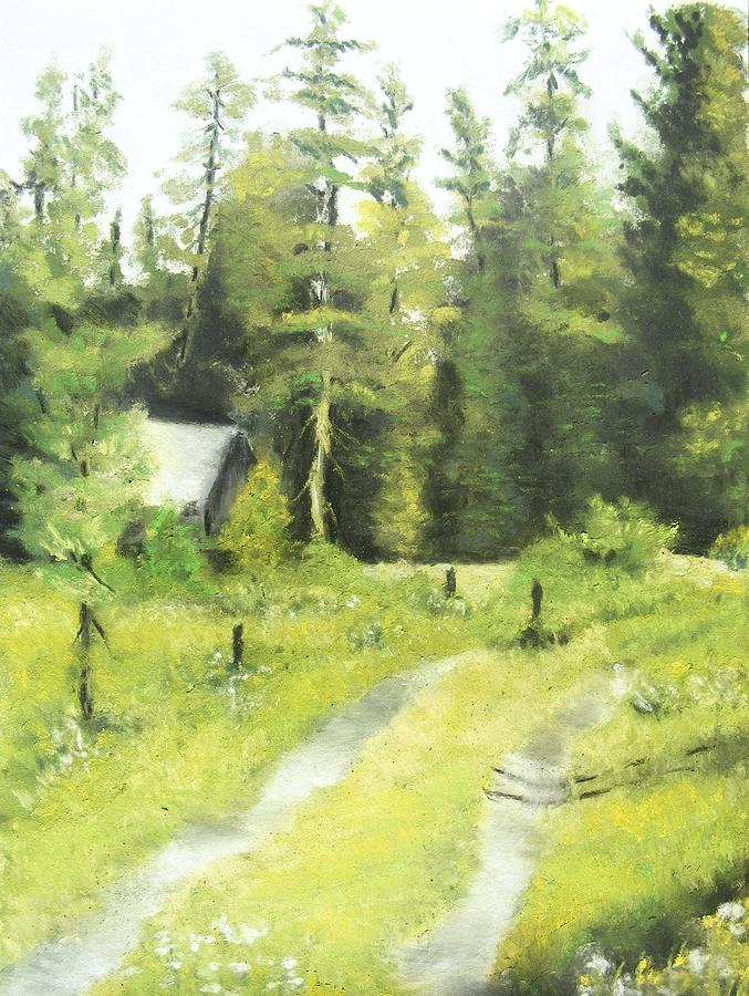 California Landscape Painting - Misty Greens by Darlene Jaeger