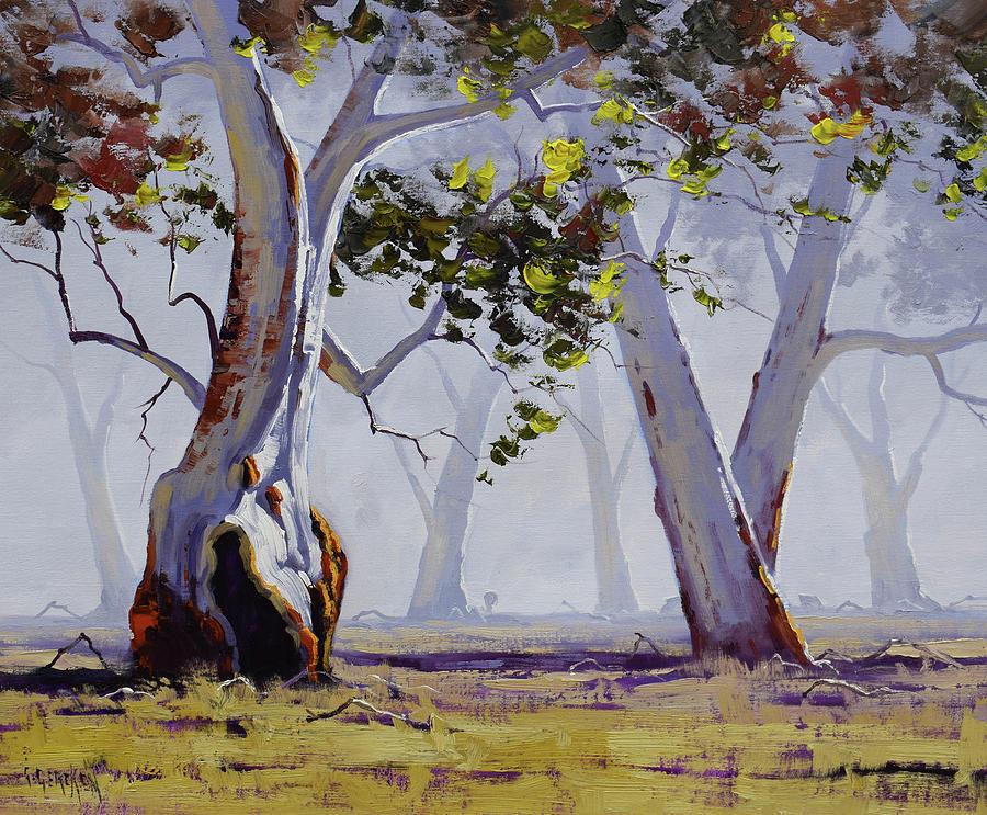 Misty Gums Painting