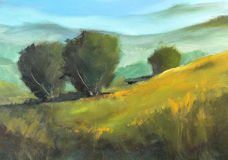 Landscape Painting Painting - Misty Horizon by Nancy Merkle