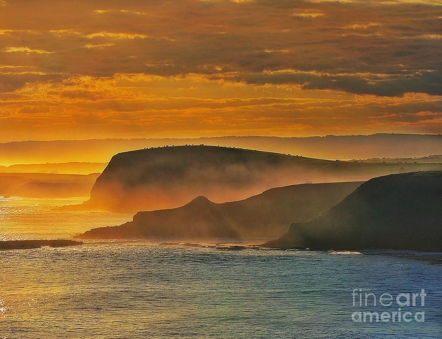 Misty Island Sunset by Blair Stuart
