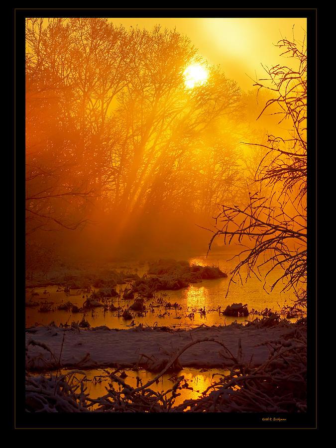 Sunrise Photograph - Misty Kentucky Sunrise by Keith Bridgman