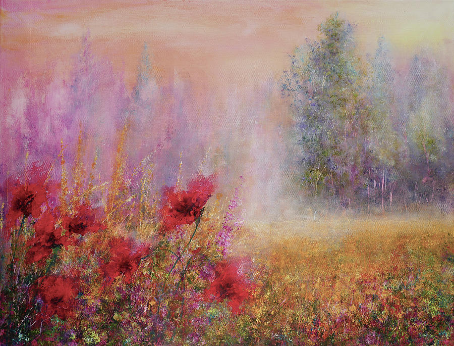 Remembrance Painting - Misty Memories by Ann Marie Bone