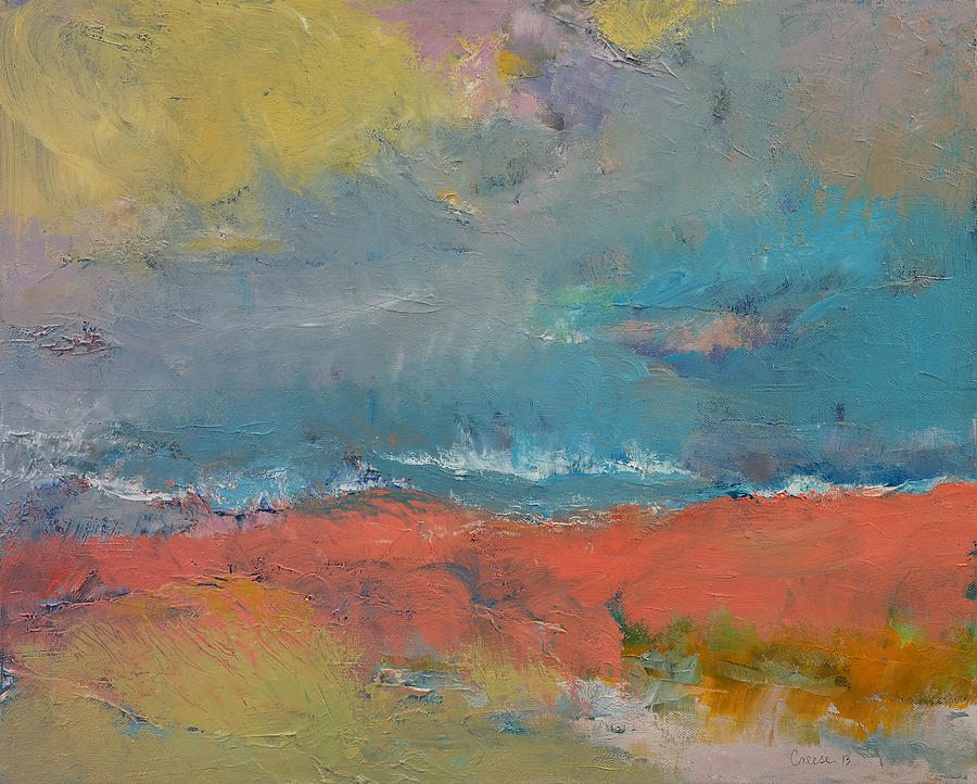 Beach Painting - Misty by Michael Creese
