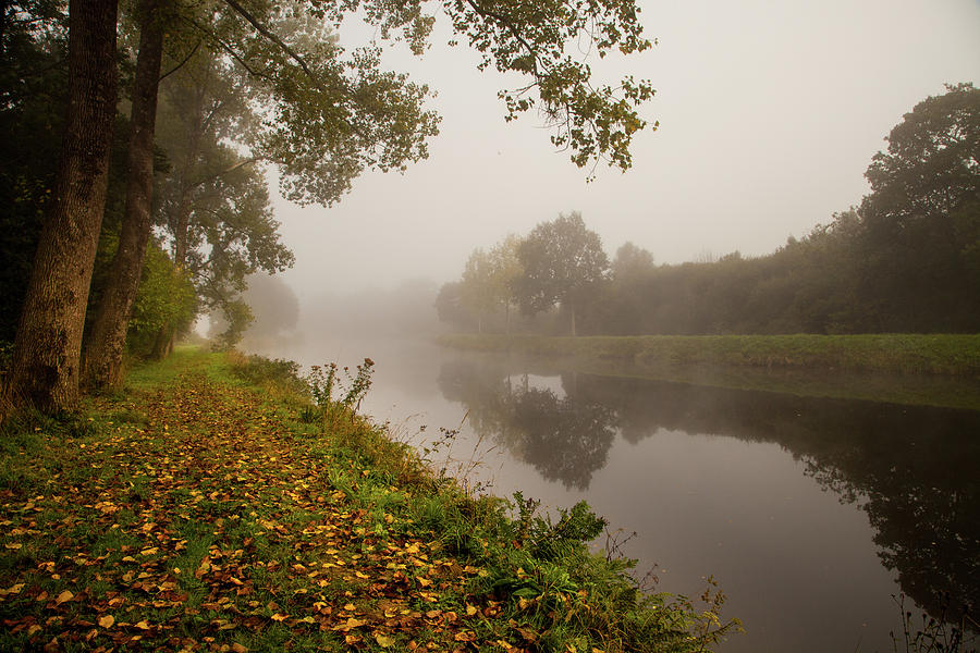 Landscape Photograph - Misty Morning Along A French River by W Chris Fooshee
