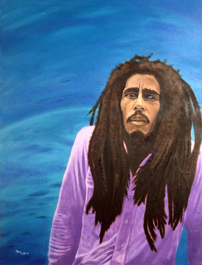 Bob Marley Painting - Misty Morning  by Hector E Soto