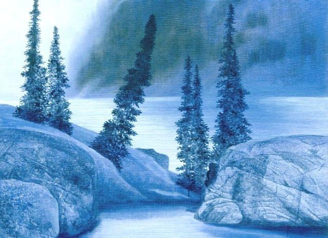 Landscape Painting - Misty Morning by Heidi Hehn