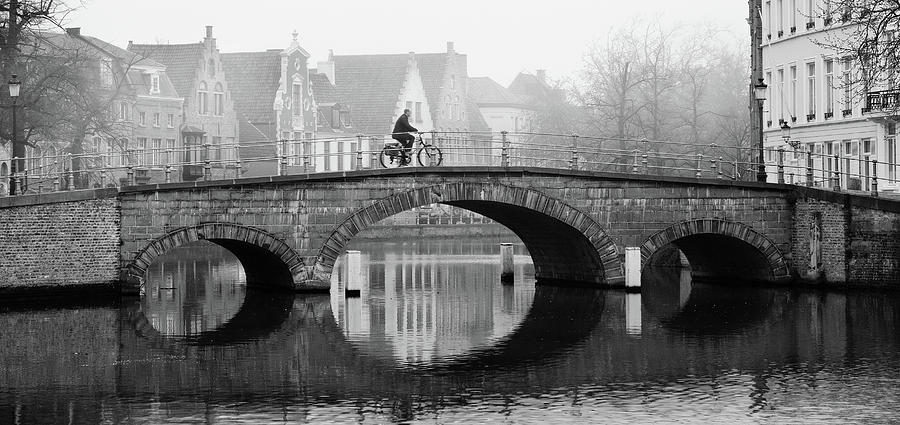 Misty Morning in Bruges  by Barry O Carroll