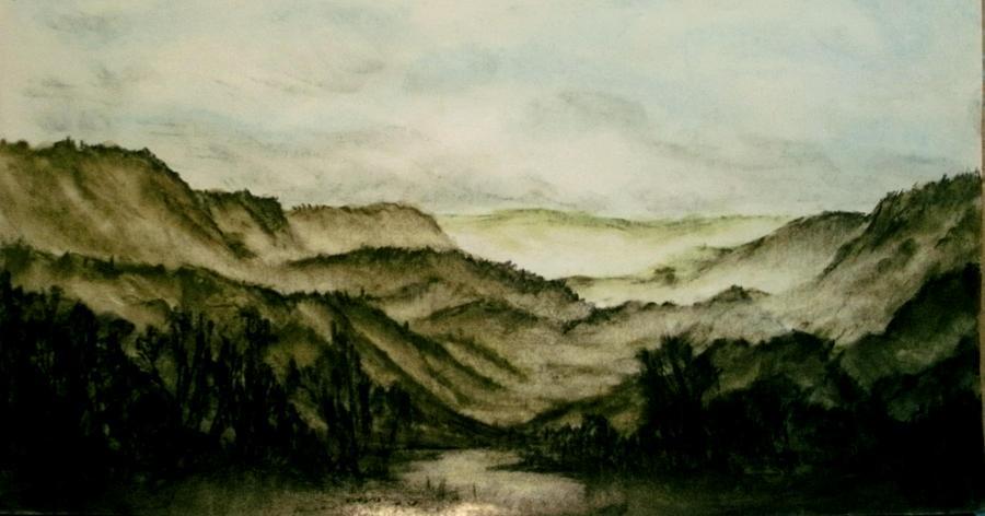 Mountains Pastel - Misty Morning In Pa by Karen Cortese