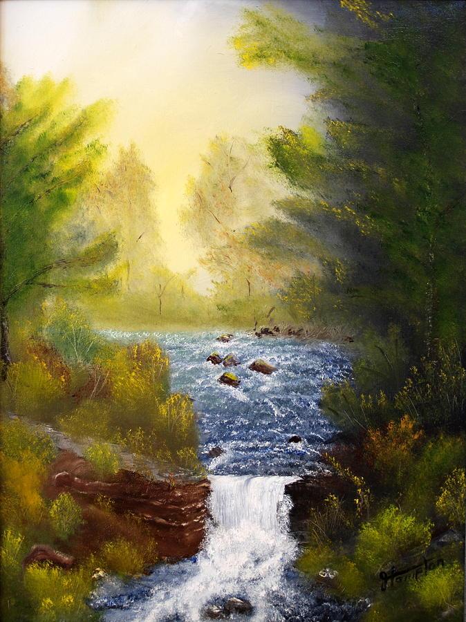 Misty Morning Painting by Jack Hampton