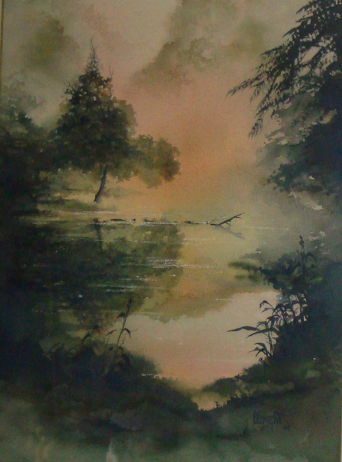 Landscape Painting - Misty Morning by Joan Ozment