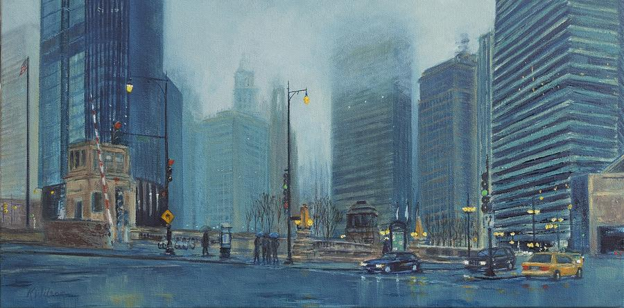 Cityscape Painting - Misty Morning by Ken Wilson