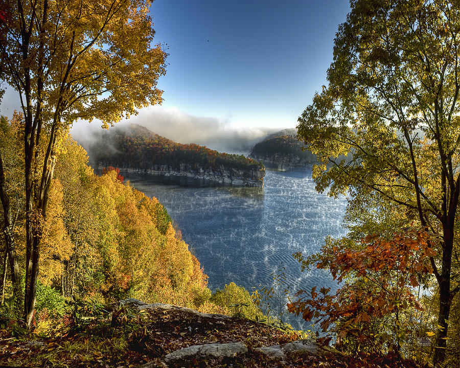 Summersville Lake Photograph - Misty Morning by Mark Allen