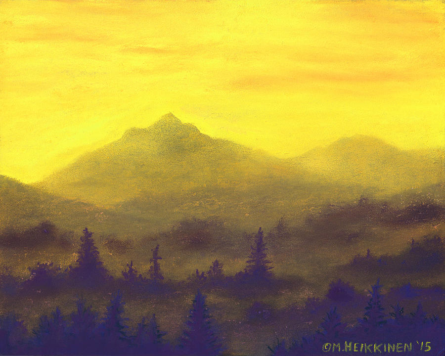 Misty Mountain Gold 01 by Michael Heikkinen