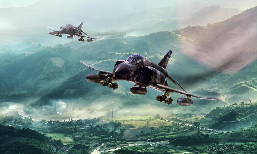 Aviation Digital Art - Misty Mountain Hop by Peter Chilelli