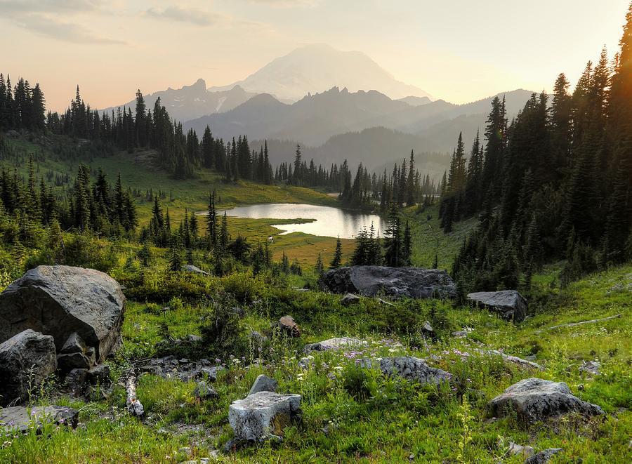 Misty Mountain Landscape by Peter Mooyman