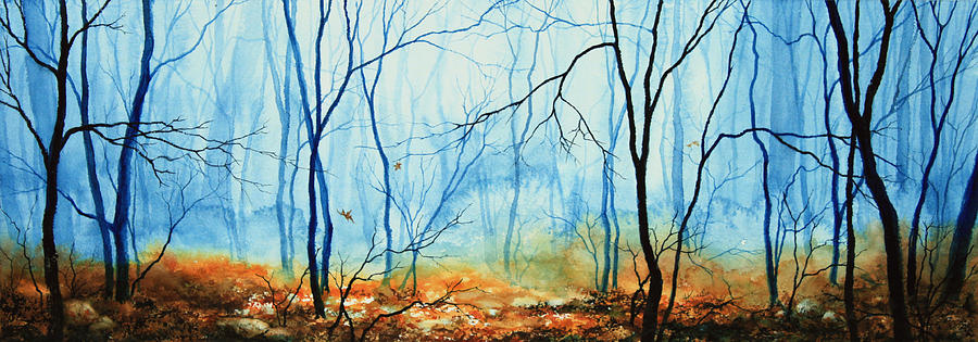 Misty November Woods Painting