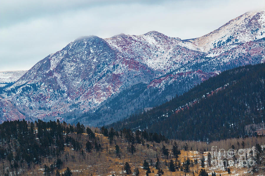 Pikes Peak Photograph - Misty Pikes Peak Winter by Steven Krull