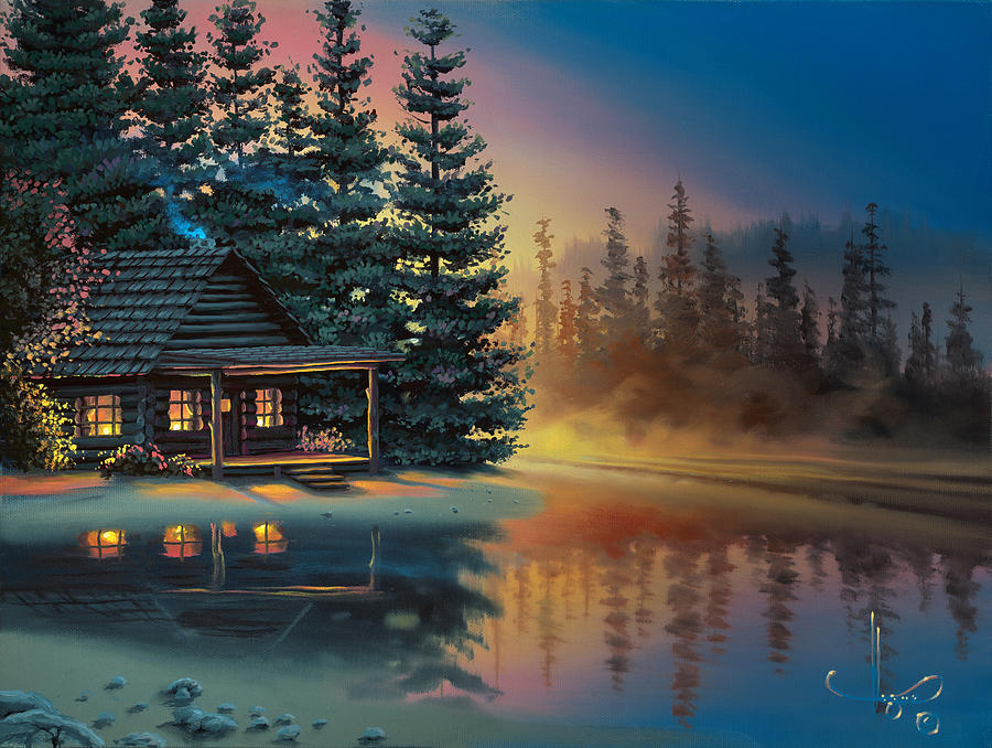 Misty Refection Painting By Al Hogue