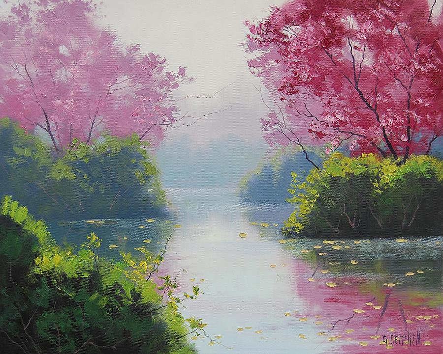 Gercken Painting - Misty River by Graham Gercken
