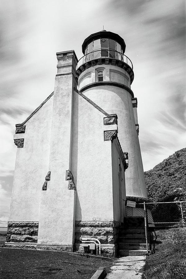Misty Sky at Heceta Head Lighthouse by HW Kateley