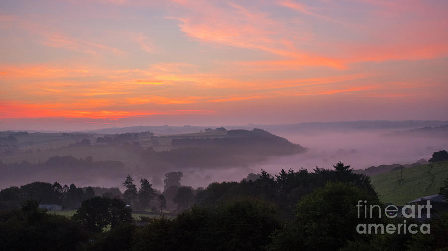 Misty Sunrise Photograph