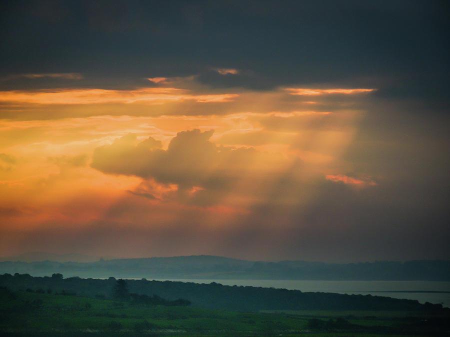 Ireland Photograph - Misty Sunrise Over Shannon River by James Truett