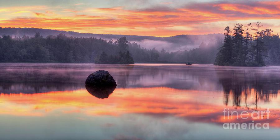 Misty Sunset by John Sandiford