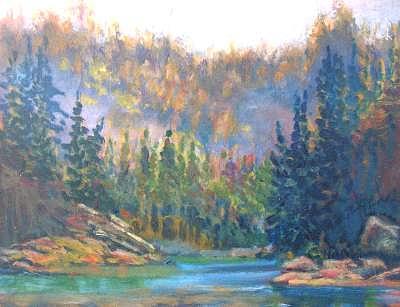 Mist Painting - Misty Twilight by Carol Hama Chang