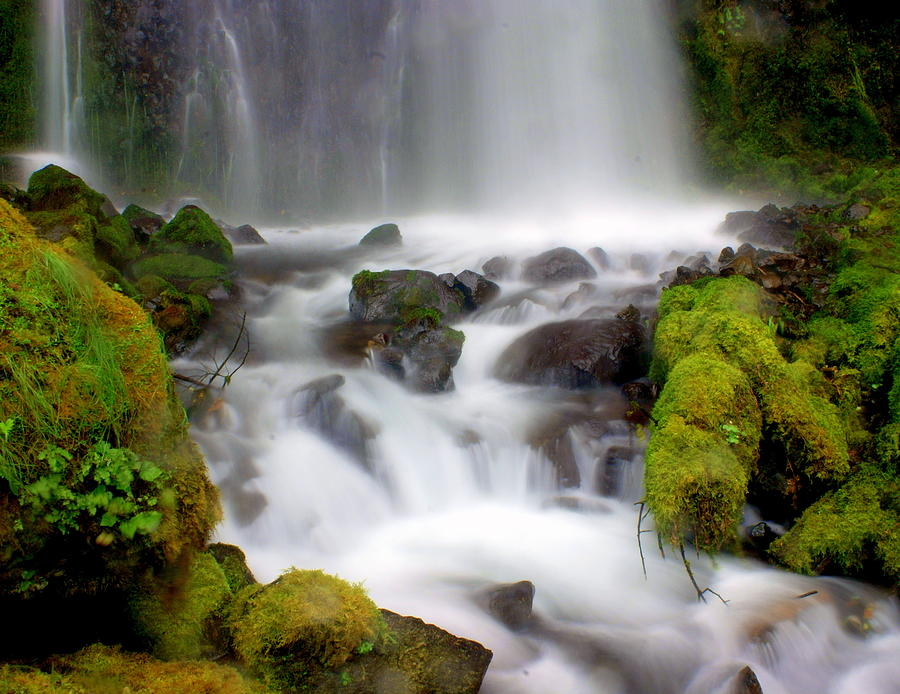 Waterfall Photograph - Misty Waters by Marty Koch