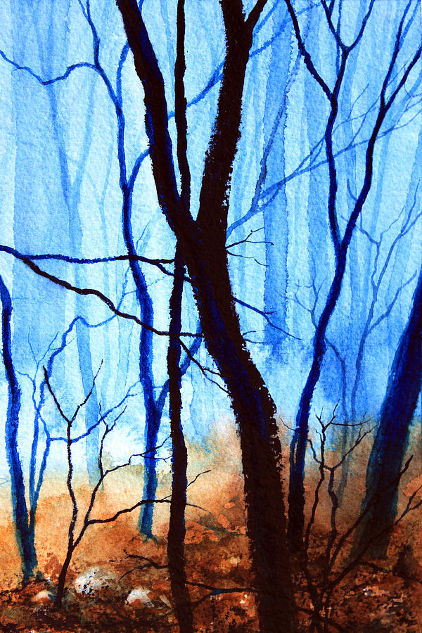 Misty Woods - 4 Painting