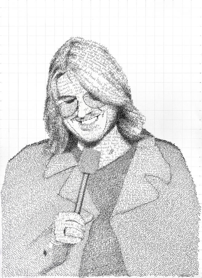 Mitch Hedberg Drawing - Mitch Hedberg In His Own Jokes by Phil Vance