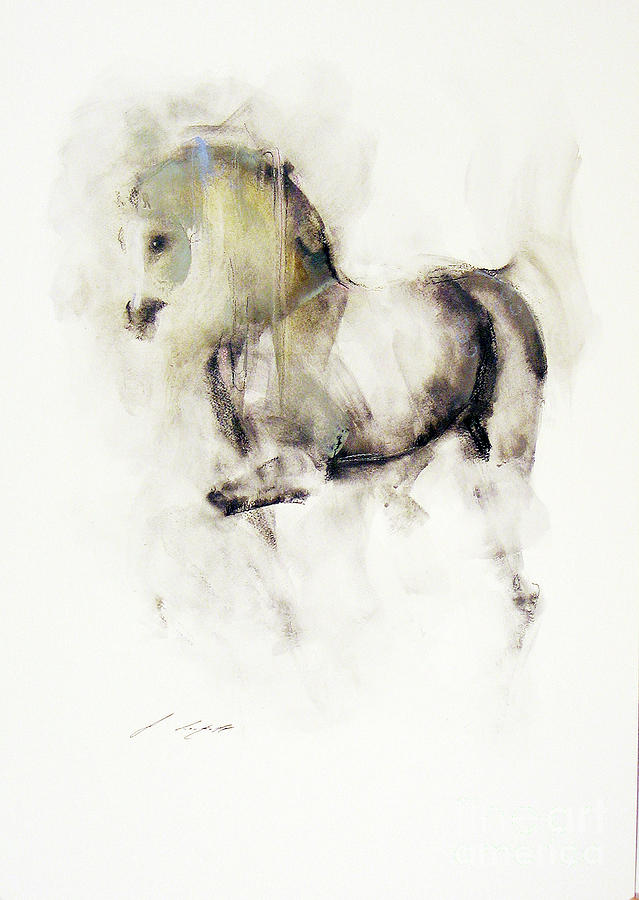 Horse Painting - Mito by Janette Lockett