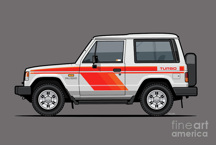 Car Digital Art - Mitsubishi Pajero Montero Shogun 3 Door Turbo Diesel by Monkey Crisis On Mars