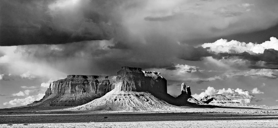 Monument Valley Photograph - Mittens And Beyond Three by Paul Basile