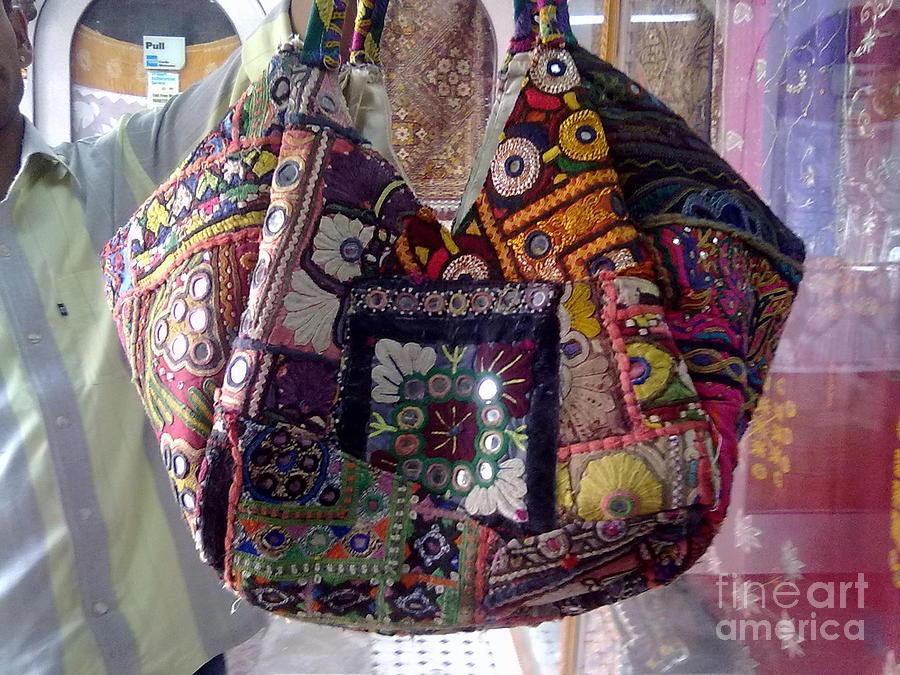 Patchwork Bag Tapestry - Textile - Mix Patchwork Bag by Dinesh Rathi